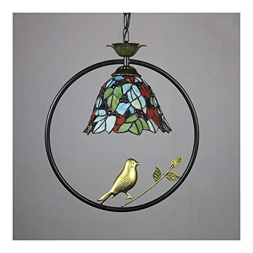 BDDLI Lámpara de Mesa American Tiffany Living Room Salas de Estudio Decoradas en Energy-Ahorro de 8 Pulgadas Chandelier Araña Regulaciones de EE. UU. T-K