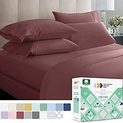 California Design Den 600 Thread Count Best Bed Sheets 100% Cotton Sheets Set - Long-Staple Cotton Sheet