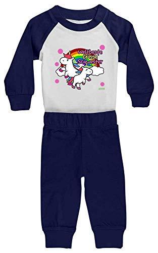 Hariz - Pijama para bebé, diseño de unicornio, arco iris, cumpleaños, incluye...