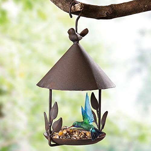 YUOKI99 Vogelhaus zum aufhängen - Vogelhäuschen Metall Futterstation für Vögel ideal für Balkon und Garten Vogelhaus Vogelhäuser Hängende...