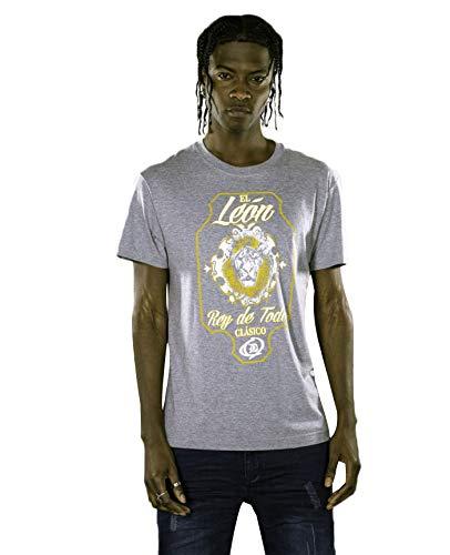 EL Leon Men'S DRYICE Organic Cotton Crew Neck TEE Grey