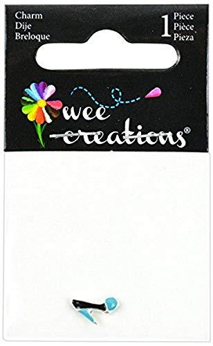 Wee Creations–Alta talón Encanto, Plata/Negro/Azul
