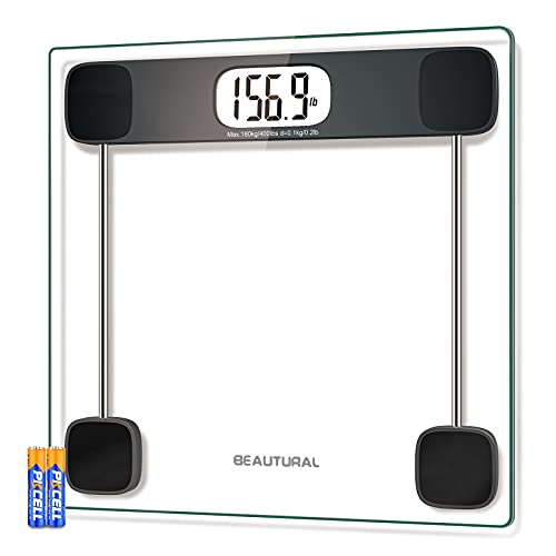 BEAUTURAL Digital Scale for Body Weight, Precision Bathroom Weighing Bath...