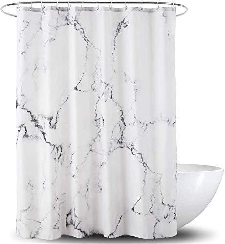 Ciujoy Marmor Duschvorhang 180x180cm, Anti-Schimmel, Anti-Bakteriell, Wasserdicht aus Polyester mit 12 Duschvorhangringen 3D Digitaldruck, Duschvorhänge für Badewanne & Dusche in Badezimmer