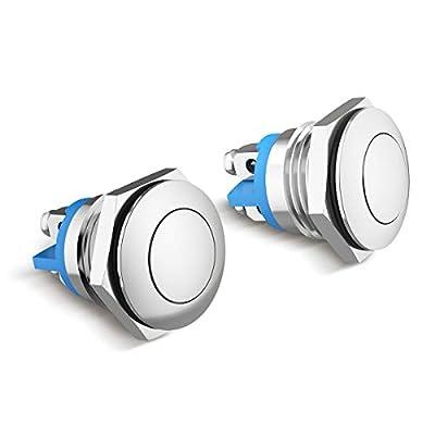 Especificaciones: Resistencia de contacto 30m (Ω), resistencia de aislamiento: ≥1000mΩ, clasificación del interruptor: 3A-250VAC Calidad Superior: El tornillo superior está hecho de acero inoxidable de gama alta, resistente al agua, a prueba de polvo...