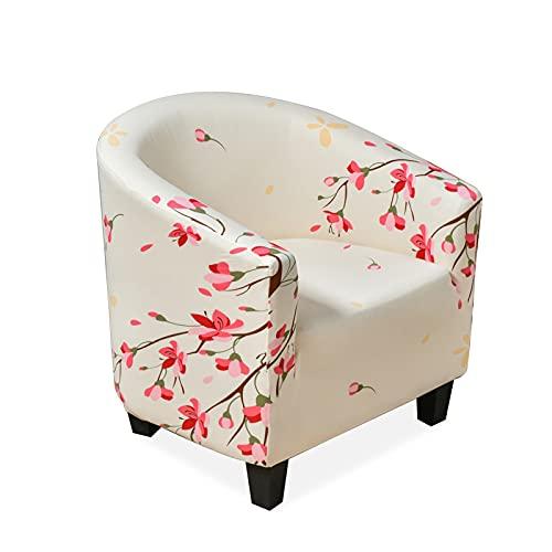 VanderHOME Couch Überwurf, Jacquard Elastisch Sofa Überwürfe, Sesselschoner mit modern Muster Sesselüberwürfe für Cafe Stuhl Sessel Loungesessel, Cocktailsessel,Pfirsichblüte