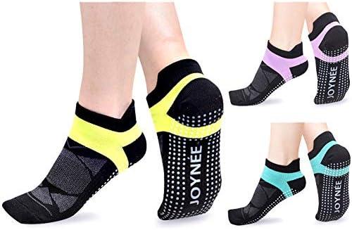 JOYN E Non Slip Yoga Socks for Women with Grips Ideal for Pilates Barre Dance Hospital Fitness product image
