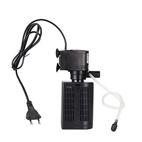 AILOVA Mini Filtro 3 En 1,Ultra Silencioso 3 En 1 Filtro De Purificador Filtro De Acuario Construido Filtro Cubo Bomba De Oxígeno (12W)