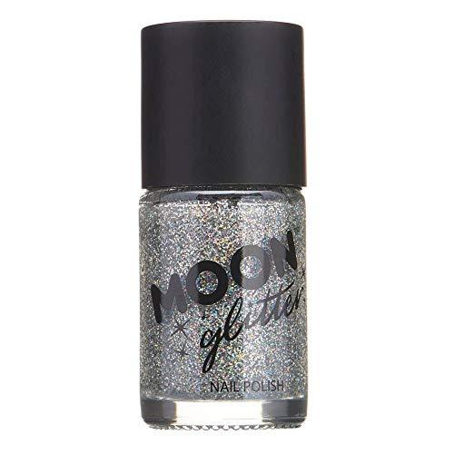 Holographischer Glitzer Nagellack von Moon Glitter - 14ml - Silber