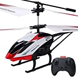 Pkfinrd Modelo de avión de Control Remoto 2.4G UAV Helicóptero Infantil Grande Aviones Resistentes a Las caídas Boy Toys Regalo de cumpleaños para niños 3.5 a Rojo para niños Mayores de 2 años
