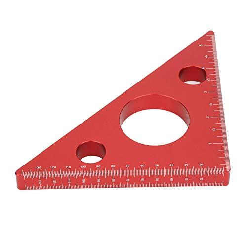 Regla triangular para carpintería de aleación de aluminio, regla de ángulo recto, para ancho de longitud para medición de carpintería DIY