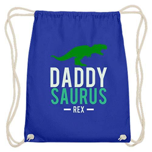 Daddysaurus Rex – Bolsa de algodón para el gimnasio, papá, papá, marido, hombre, bebé, color Azul real., tamaño 37cm-46cm