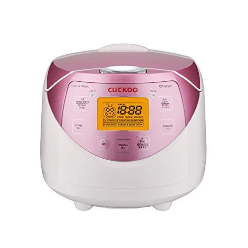 Cuckoo CR-0631F Reiskocher Klein 1,08 Liter 6 Tassen | Timer | LCD-Display | 6 Kochfunktionen | 4 Sicherheitsfunktionen | Aluminiumtopf
