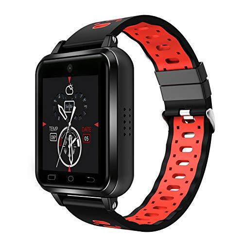 ELYSYSRL Smartwatch waterdichte Fitness activiteit tracker Pedometers Hartslagmeter WiF video-oproep GPS navigatie outdoor Sport horloge (rood)