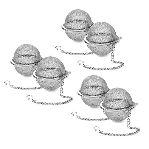 2.71in Tea Ball Infuser Stainless Steel Filter Perfect Tea Filter (6 packs)