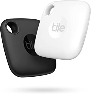Tile Mate (2022) Bluetooth Item Finder, 2 Stuks, Bereik 60m, 1 Jaar Batterijduur, Incl Zoekopdracht Met Behulp Van De Geme...