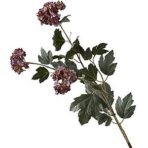 hsj Artificial Flowers,Fake Flowers,Flowers,Snowball Flower Simulation Flower Decoration Living Room Bedroom Fake Flower Bouquet Table Setting Flower (Purple)