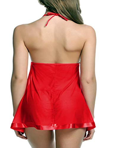 FIMS - Fashion is my style Women Babydoll (Gift Wrapped Packing) Women Innerwear Lingerie for Women y Lingerie for Honeymoon Lingerie Set Babydoll Nightwear Lingeries for Women Red Free Size