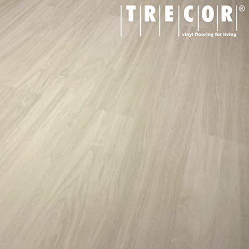 TRECOR® Vinylboden Klick RIGID 4.2 Massivdiele - 4,2 m stark mit 0,30 mm Nutzschicht - Sie kaufen 1 m² - WASSERFEST (Vinylboden | 1 qm, Eiche Weiß)