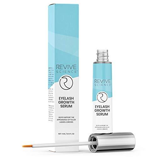 Revive Science Eyelash Growth Serum & Eyebrow Enhancer - Lash Boost Serum with Biotin, Vitamin E & Collagen - Rapid Lash Lift for Thicker & Longer Eyelashes For Women - 4 ML