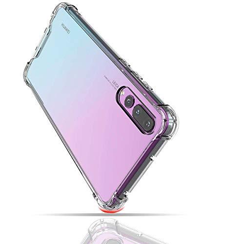 Wephone Accesorios Funda Transparente Borde Reforzado TPU Rigido para Xiaomi (Mi A2)
