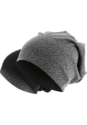 MasterDis Printed Jersey Beanie Elephant Herren Mütze Grau