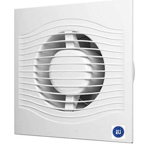 Bricoloco Extractor de baño silencioso Silent 25 db. 16x16 cm 7,8 W 100 mm. Extractor renovador de aire de baños. Elimina condensación de vapor y renueva el aire. Extracción 90 m3/h (1)
