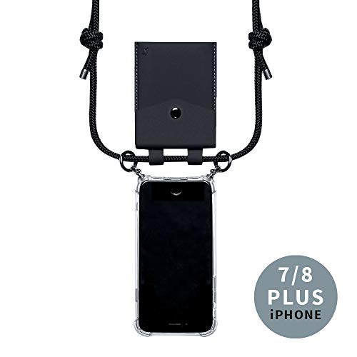 phonecover lover para iPhone 7 Plus/8 Plus – Cadena para teléfono móvil con Bolsillo como Tarjetero para Monedas – Funda Estable para iPhone – Smartphone Necklace