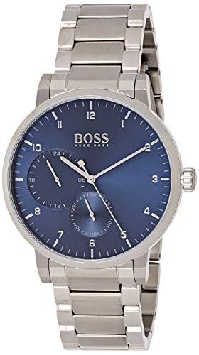 Hugo Boss Unisex Multi Zifferblatt Quarz Uhr mit Edelstahl Armband 1513597