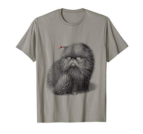 Cat With Ladybug / Persian Cat / Girly / Sweet Cute Cat T-Shirt