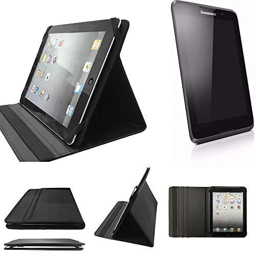 K-S-Trade® Lenovo A7-40 Schutz Hülle Business Case Tablet Schutzhülle Flip Cover Ultra Slim Bookstyle Tasche Für Lenovo A7-40, Schwarz. Kunstleder Qualitätsware