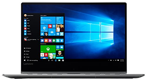 Lenovo Yoga 910 35,3 cm (13,9 Zoll Full HD IPS Multi-Touch) Convertible Laptop (Intel Core i5-7200U, 8GB RAM, 512GB SSD, Intel HD Grafik 620, Windows 10 Home) silber
