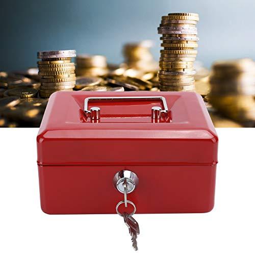 Caja de efectivo, caja de cerradura, caja de seguridad con mini portátil clave para oficina(red)