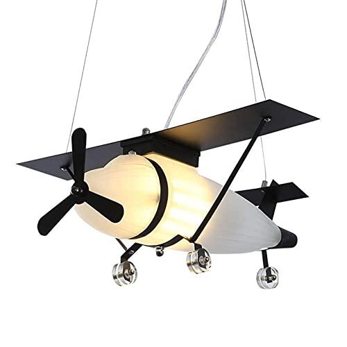 Lámparas de araña de Aviones Retro, LED Creativo Moderno Cristal de Hierro Iluminación para niños Lámparas de Techo Nordic Cafe Nursery Mesa de Comedor Decoración Luz Colgante