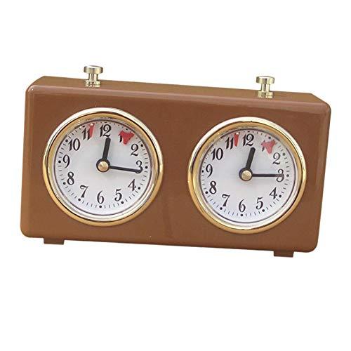 Sharplace Professionale Retro Analogico Orologio di Scacchi Timer Meccanico Timer Orologio di Scacchi Wind-Up Meccanico Orologio di Scacchi