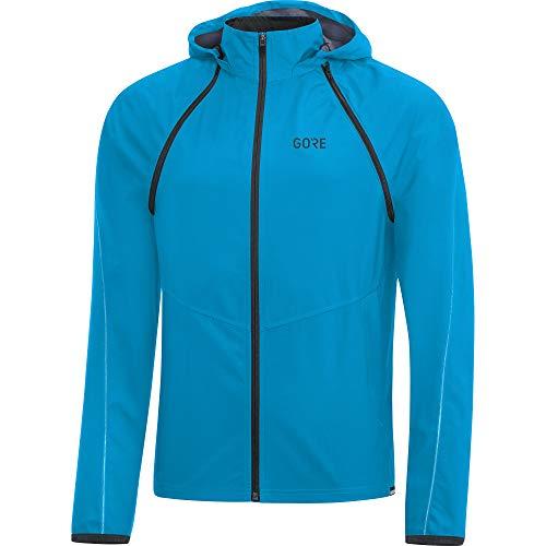 GORE Wear R3 Giacca zip-off con cappuccio da uomo GORE WINDSTOPPER, M, Blu