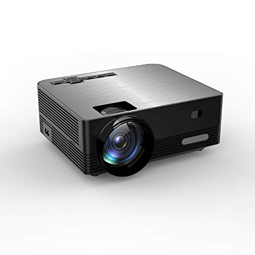 HD Projector, Tontion 3500 Lux Video Projector Native 720P 1080P Mini Projector,and 179'' Display,50,000 Hour LED, Portable Projector Compatible with TV Stick, PS4,HDMI, VGA, USB, AV, TF, DVD Player