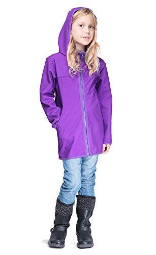 Be! Mama Mädchen Softshell Mantel mit Leichter Fleece-Schicht innen, Wassersäule: 10.000 mm, Gr. 110-116, lila