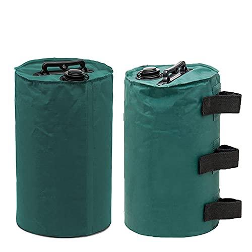 WERTSWF 2 bolsas de agua con dosel, bolsa de peso base para paraguas, bolsas de arena portátiles para la mayoría de tiendas, trípode, soporte para altavoz, portón trasero