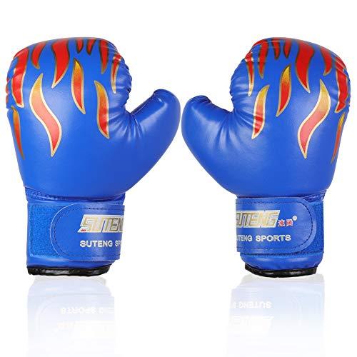 Boxhandschuhe Kinder, PU Kinder Boxhandschuhe Trainingshandschuhe Sparring Training Handschuhe Muay Thai Sparring Training Handschuhe für Kinder von 3-12 Jahre