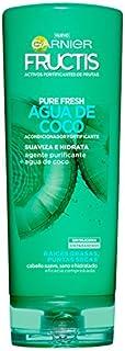 GARNIER Fructis Pure Fresh Agua de Coco Acondicionador Pelo Normal con raíces grasas y puntas secas - 250 ml