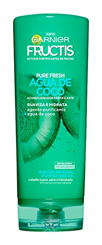 Garnier Fructis Acondicionador Pure Fresh Agua de Coco - 250 ml - [pack de 3]