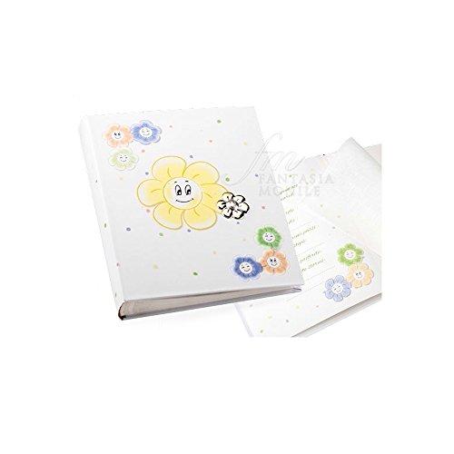 B-342 AL Fotoalbum voor baby's en kinderen, zilver met cd-formaat, 20 x 25 geschenk, doop, personaliseerbaar
