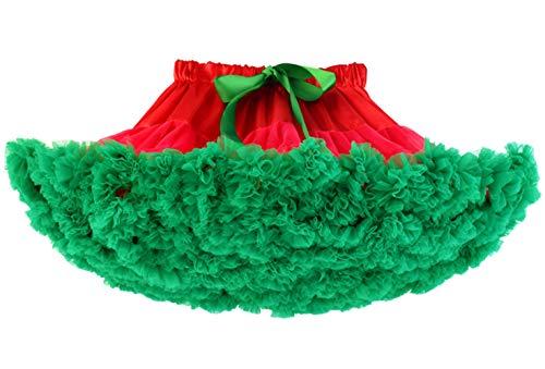 Happy Cherry - Vestido de Tutú de Fiesta para Niñas Falda Corta de Tul Suave con Volantes para Danza de Ballet para Princesa Cosplay Partido para Bebés Niña de 3-4 Años - Rojo