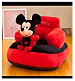 AVSHUB Soft Sofa Mickey Toy Shape Baby Supporting Seat Soft Plush Cushion and Chair for Kids (Red)