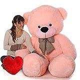Shopify Soft Teddy with Heart 4 feet Pink Teddy Bear (121 cm) Extra Large Very Soft Lovable/Huggable Teddy Bear for Girlfriend/Birthday Gift/Boy/Girl Valentine