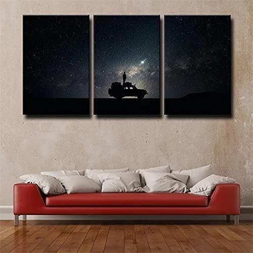 45Tdfc Black Galaxy Landscape Stars Sky Space Car Póster en Lienzo,póster artístico Cuadro artístico de Pared,impresión,Moderno,póster de decoración para Dormitorio Familiar,30x50cm