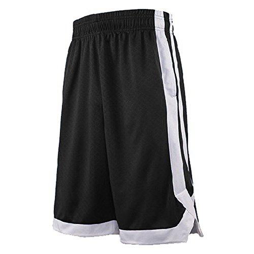Top Tie Pantaloncini da Basket per Uomo con Tasche 2 Toni Pantaloncini da Allenamento Tascabili Nero...