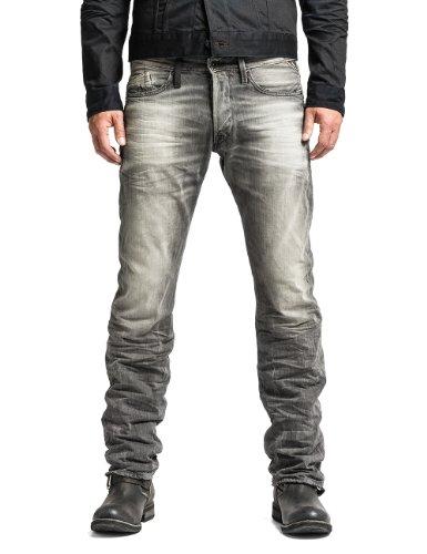 Replay Herren Straight Leg Hose Waitom M983, Grau (Grey Denim 10), W29/L30 (Herstellergröße: 29)