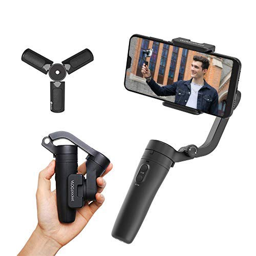 FeiyuTech Vlog Pocket Handheld Phone Gimbal Smartphone Stabilizer for iPhone12/11/X/Xs/XR/8/7Plus/6,Xiao Mi,Samsung Huawei Android iOS Smartphones,Max 0.53lb,Phone Width 42to88mm,Official-Authorized